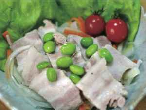 たから豚の塩豚サラダ